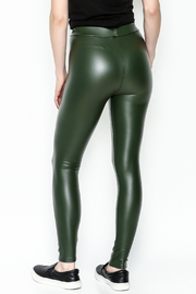 Polly & Esther Pleather Leggings - Back cropped