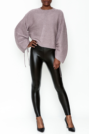 Polly & Esther Pleather Leggings - Side cropped