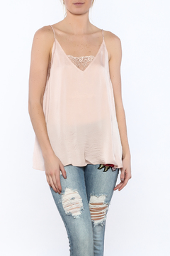 Polly & Esther Satin Lacey Top - Product List Image