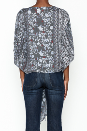 Polly & Esther Tie Front Blouse - Back cropped