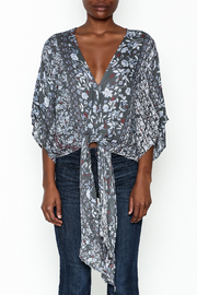 Polly & Esther Tie Front Blouse - Front full body