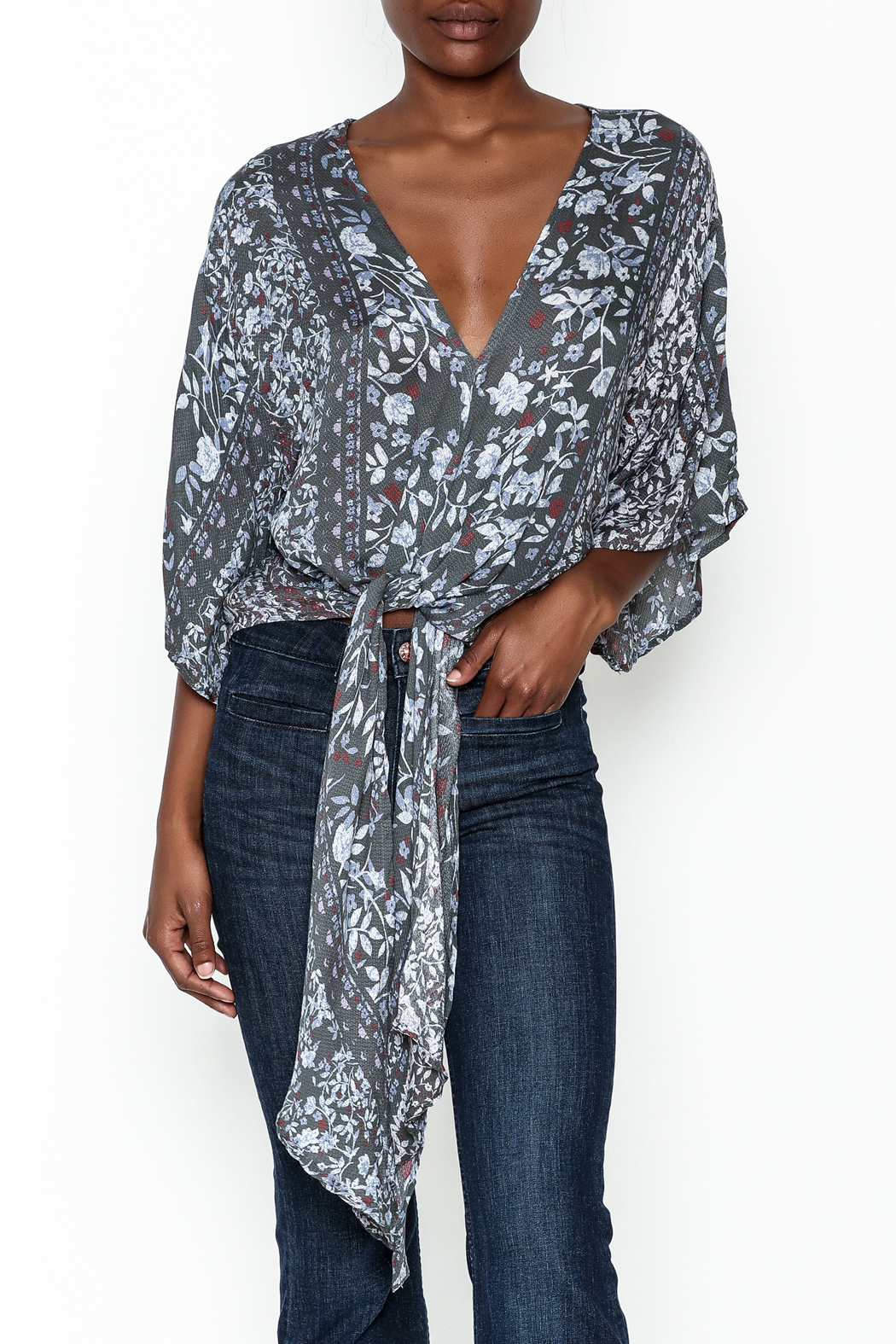 Polly & Esther Tie Front Blouse - Main Image