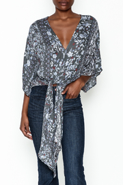 Polly & Esther Tie Front Blouse - Product Mini Image