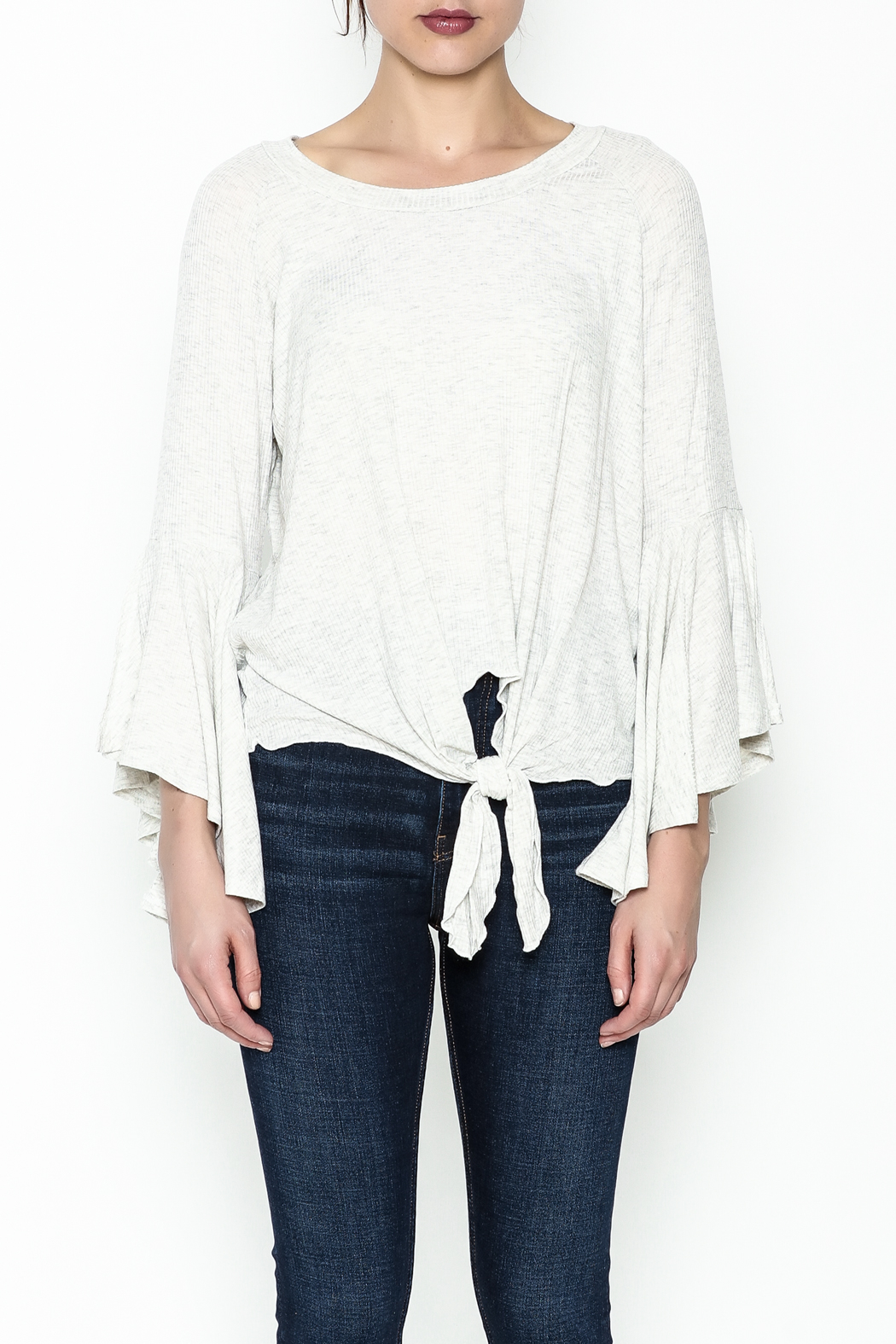 Polly & Esther Tie Front Top - Front Full Image