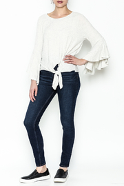 Polly & Esther Tie Front Top - Side cropped