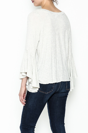 Polly & Esther Tie Front Top - Back cropped