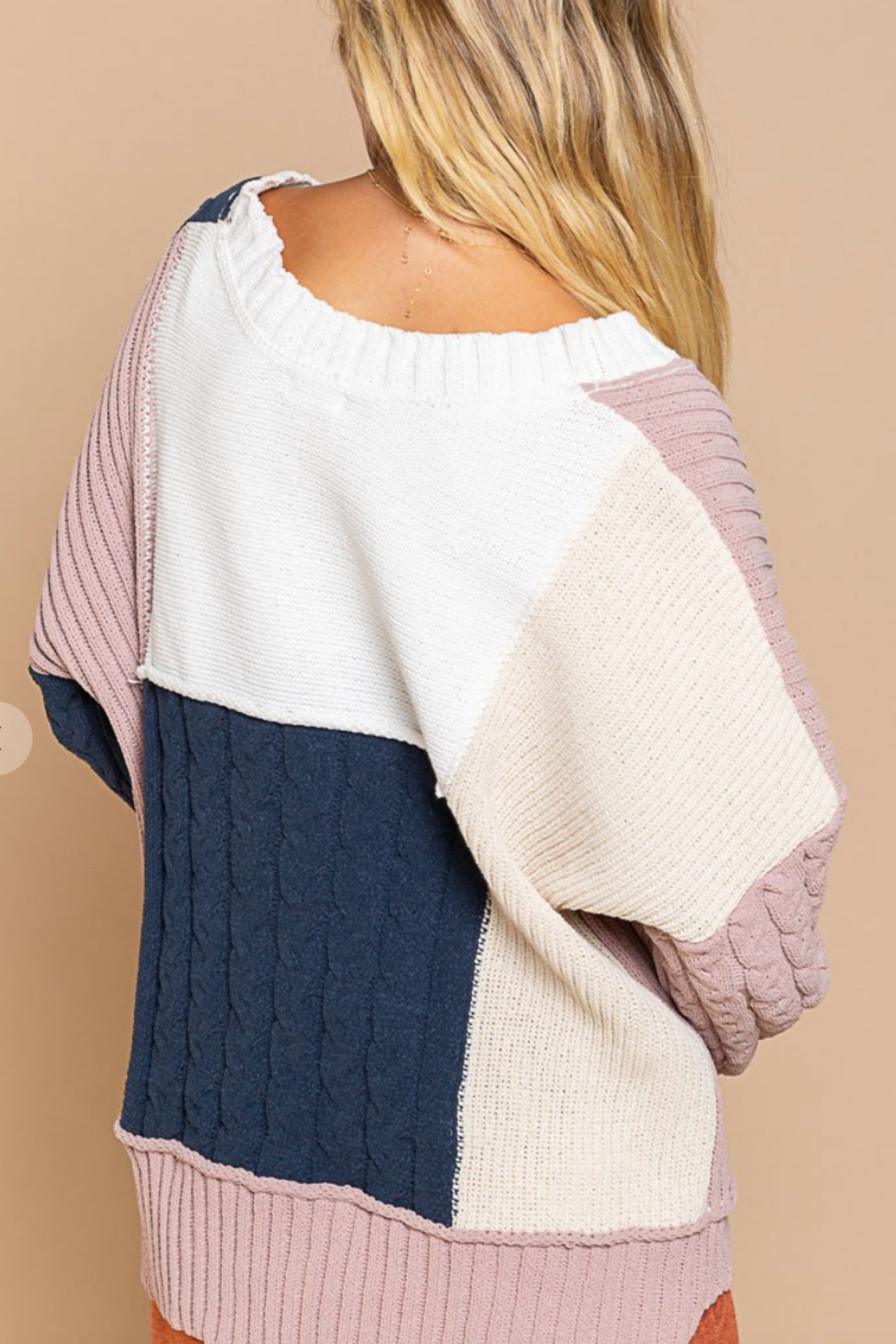 POL  Polly Color Block Sweater - Front Full Image
