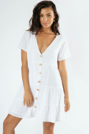 Girl in the Sun Polly Dress - Back cropped