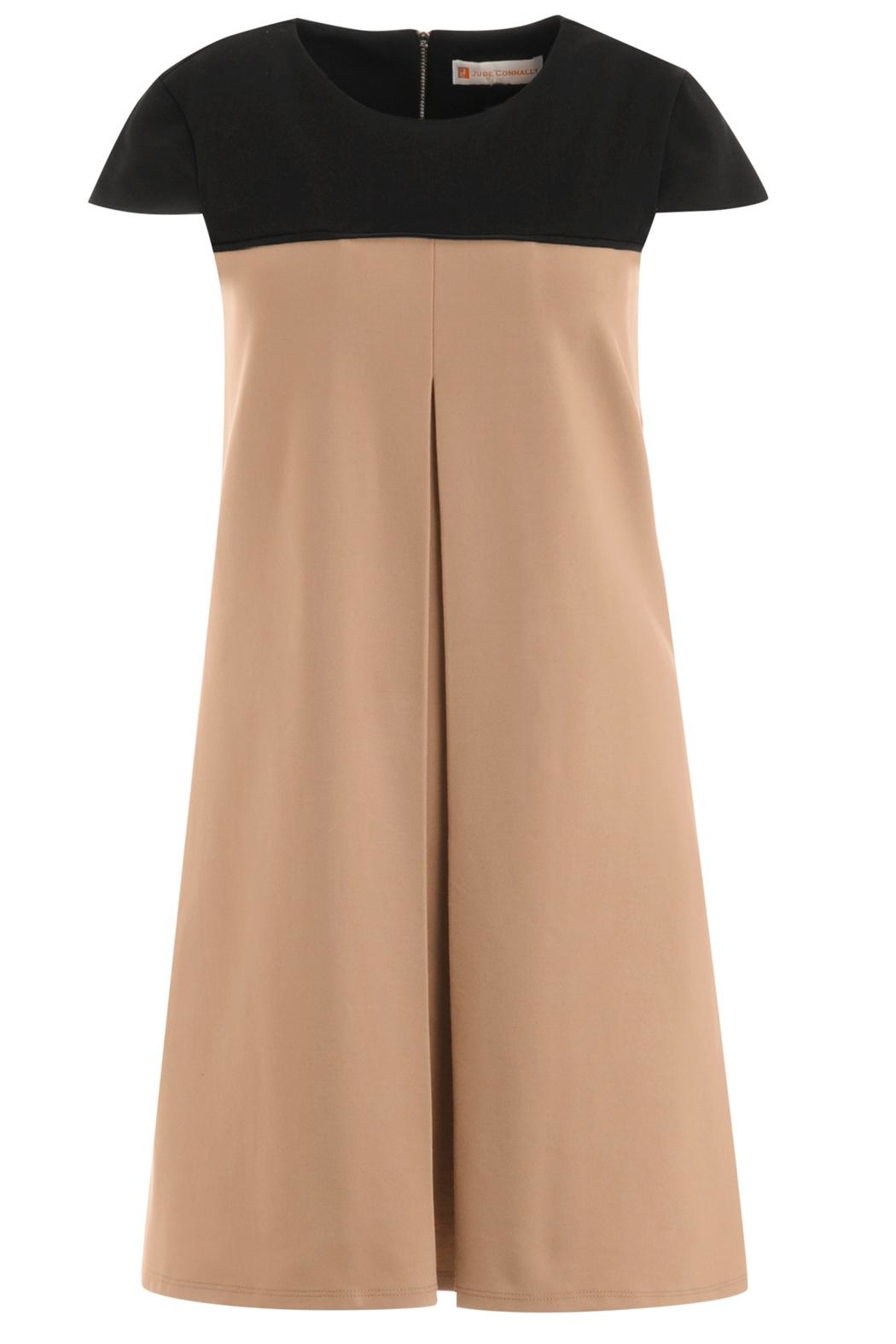 Jude Connally Polly-Ponte Swing Dress - Side Cropped Image