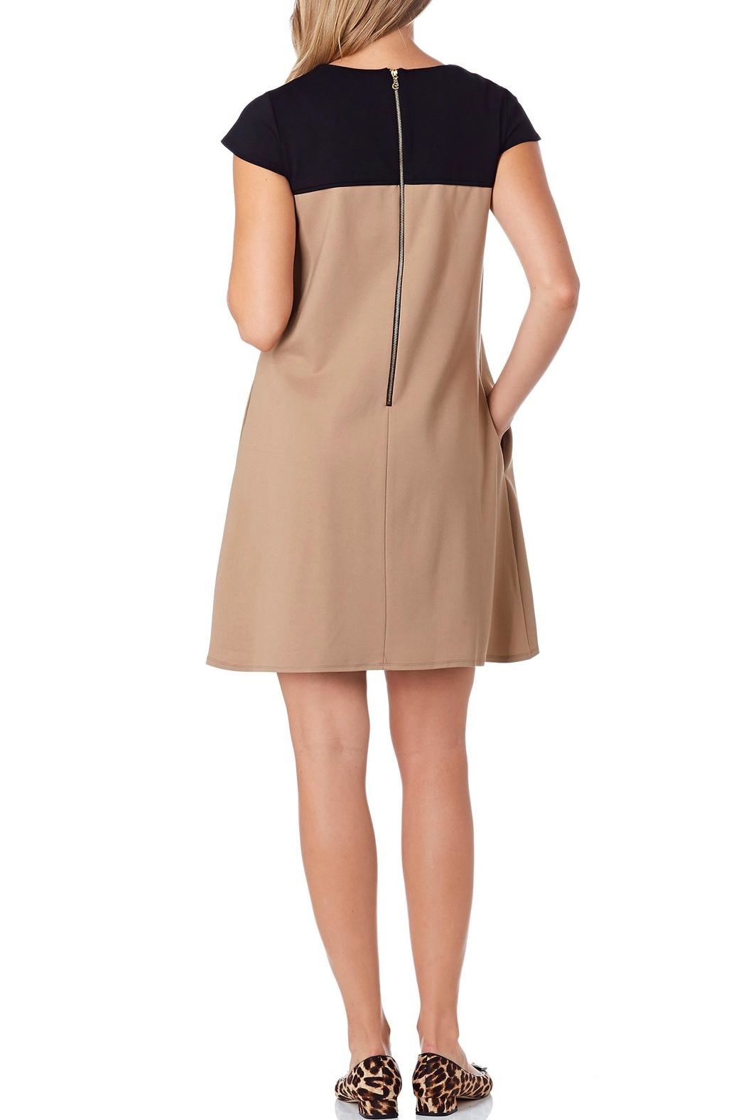 Jude Connally Polly-Ponte Swing Dress - Front Full Image