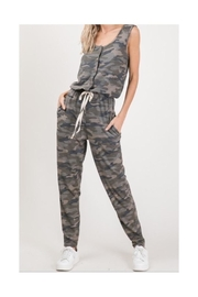 Polly & Esther Camo Sleeveless Jumpsuit - Product Mini Image