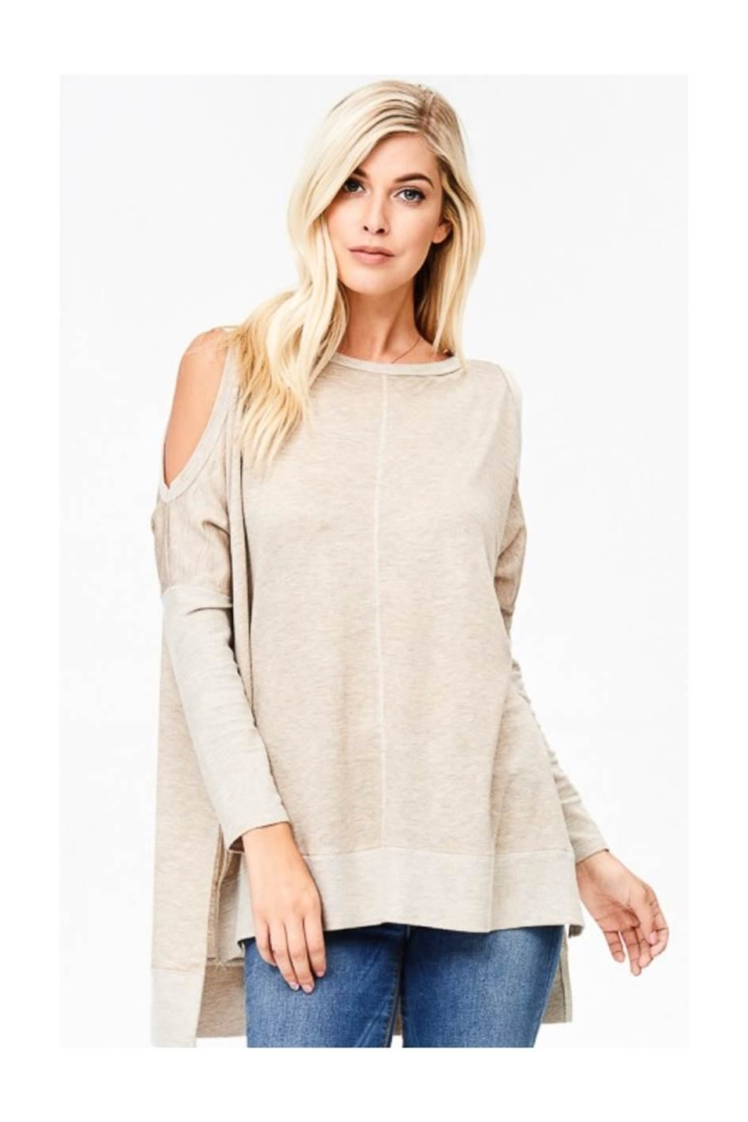 Polly & Esther Cold Shoulder Top - Main Image