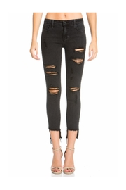 Polly & Esther Distressed Black Jeans - Product Mini Image