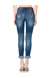 Polly & Esther Fringe Bottom Jeans - Front cropped