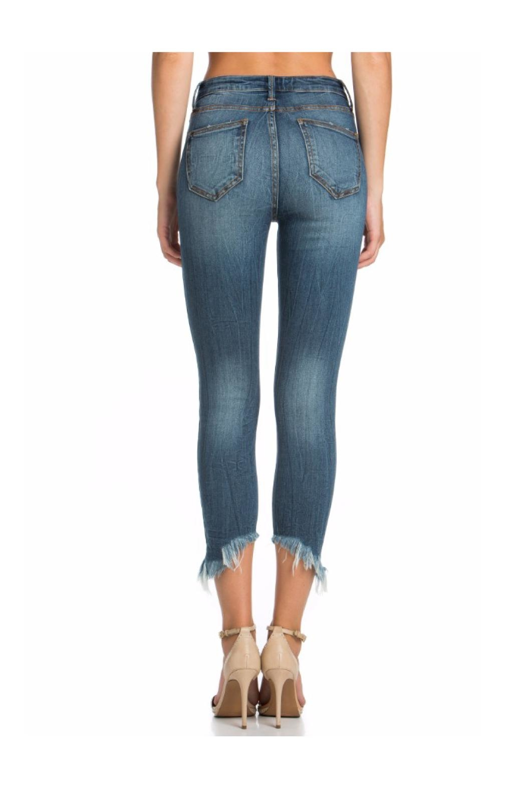 Polly & Esther High Waisted Jeans - Front Full Image
