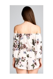 Polly & Esther Ivory Floral Romper - Front full body
