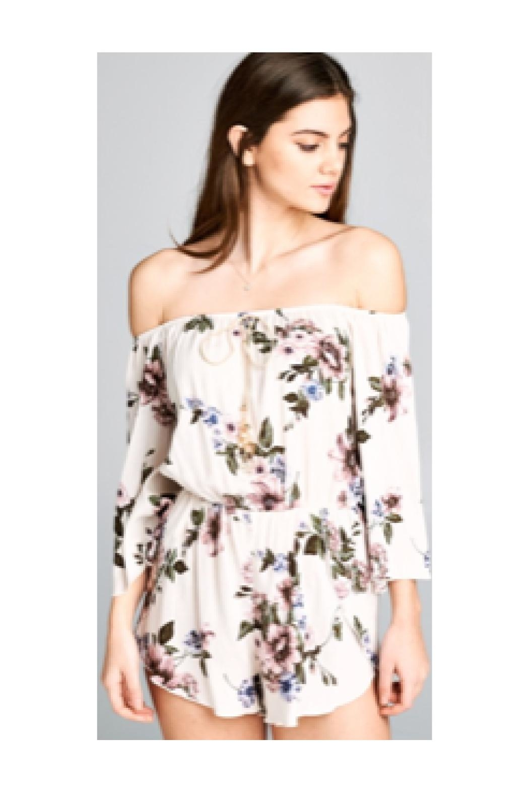 Polly & Esther Ivory Floral Romper - Main Image