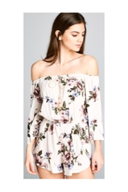 Polly & Esther Ivory Floral Romper - Front cropped