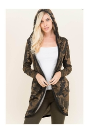 Polly & Esther Long Camo Cardigan - Product Mini Image