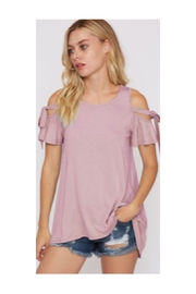 Polly & Esther Mauve Cold-Shoulder Top - Product Mini Image