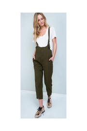 Polly & Esther Olive Denim Overalls - Product Mini Image