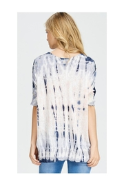Polly & Esther Tie Dye V-Neck - Front full body