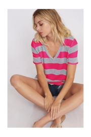 Polly & Esther V-Neck Stripe Top - Product Mini Image
