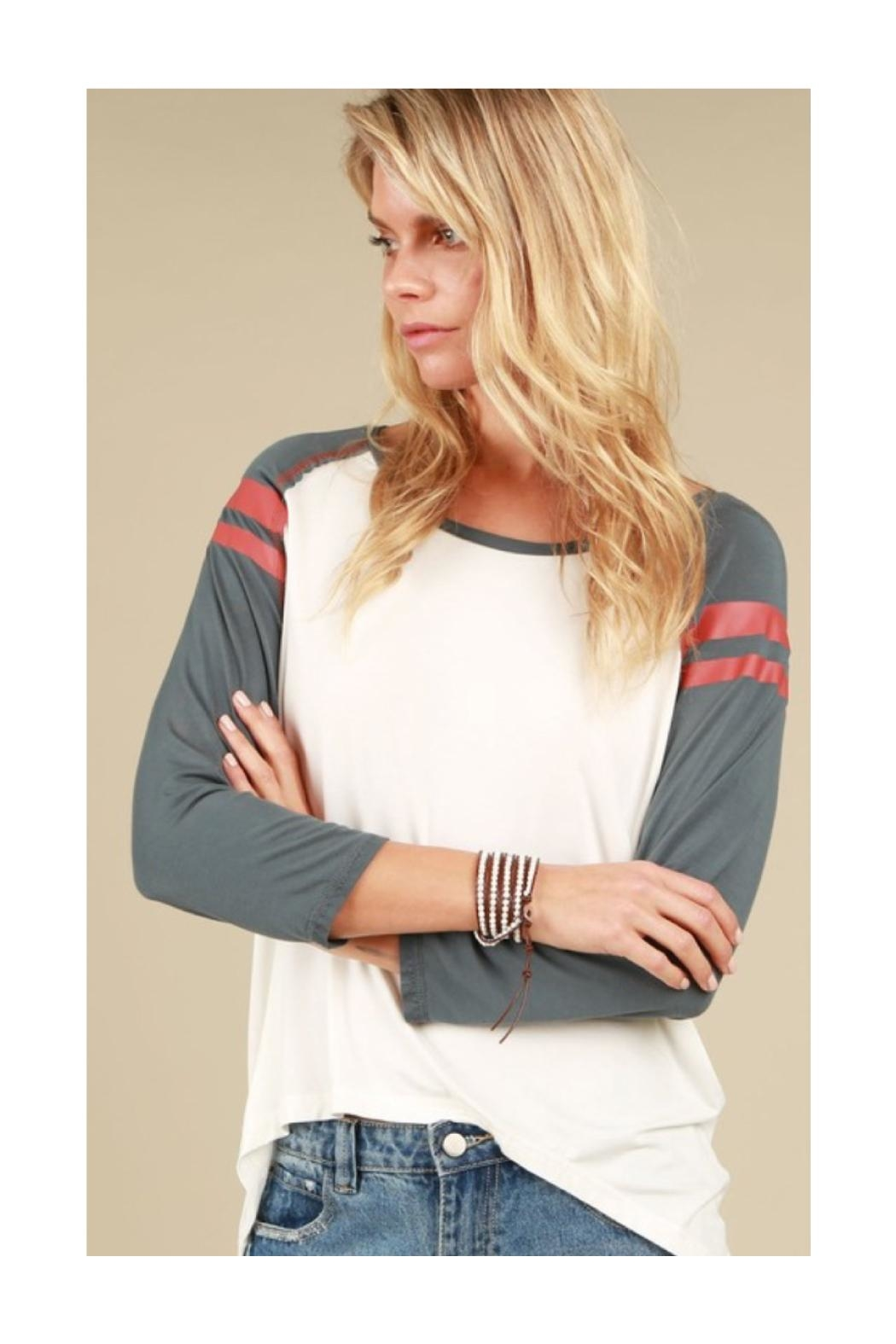 Polly & Esther Varsity Stripe Top - Main Image