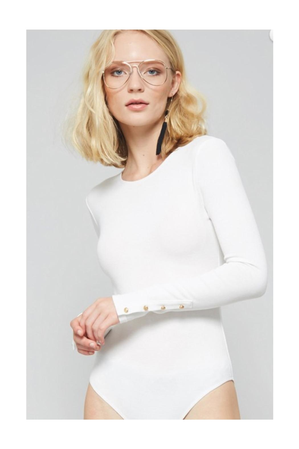Polly & Esther White Bodysuit - Front Cropped Image