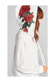 Polly & Esther White Cropped Hoodie - Front cropped