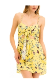 Polly & Esther Yellow Floral Dress - Front cropped