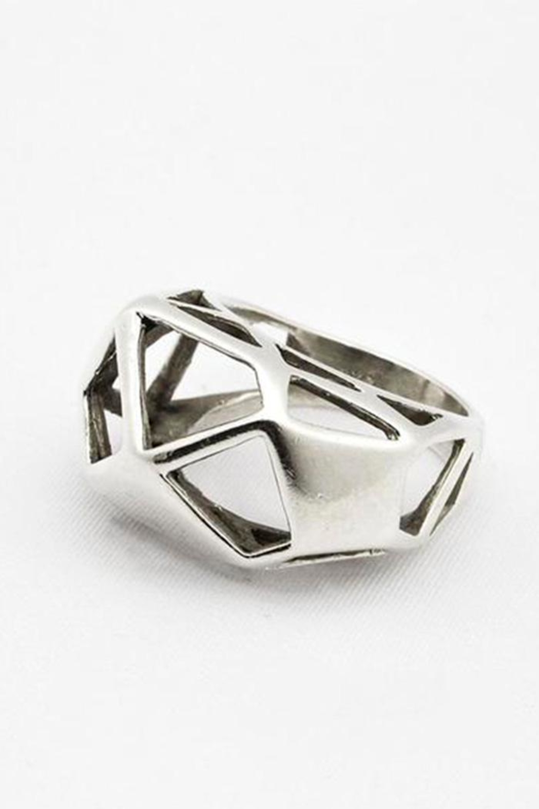 Linda de Taxco Polygons Ring - Front Cropped Image