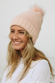 Leto pom beanie with faux sherpa lining - Product Mini Image