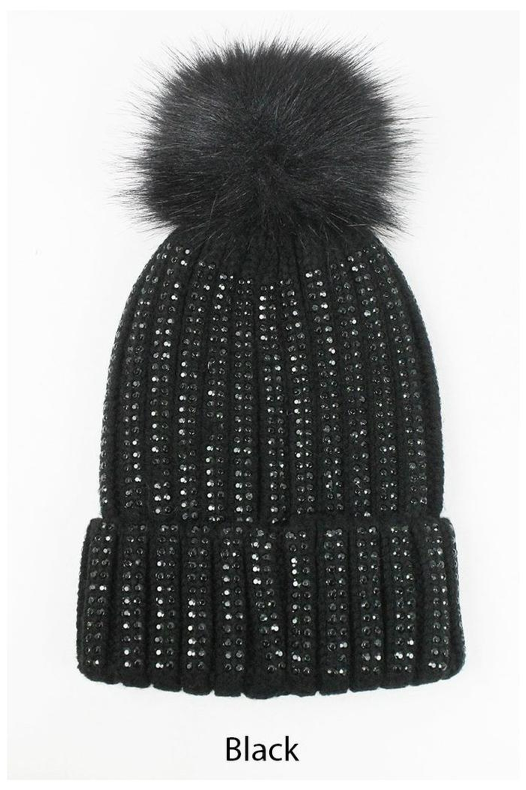 david and young Pom Pom Beanie - Front Full Image