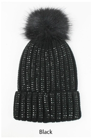 david and young Pom Pom Beanie - Front full body