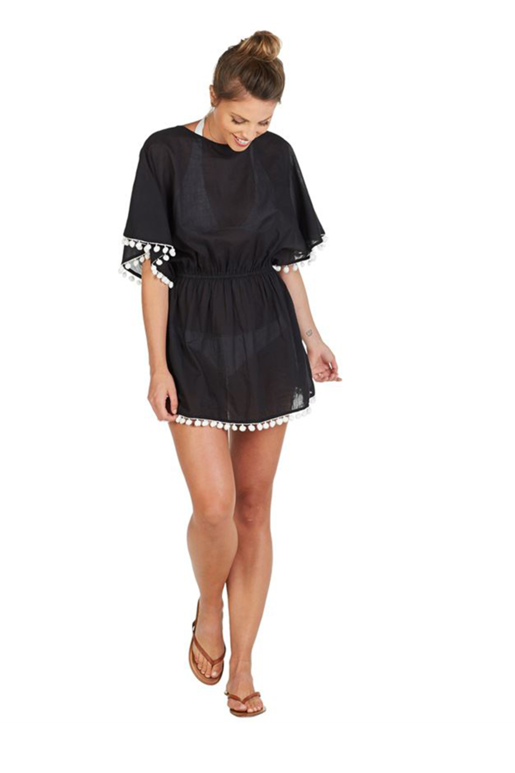 Curtsy Pom Pom Coverup - Front Full Image