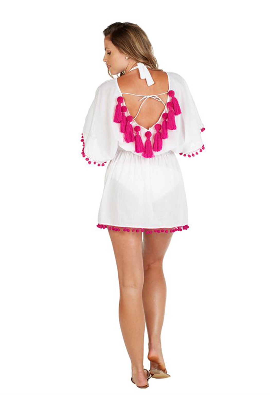 Curtsy Pom Pom Coverup - Front Cropped Image