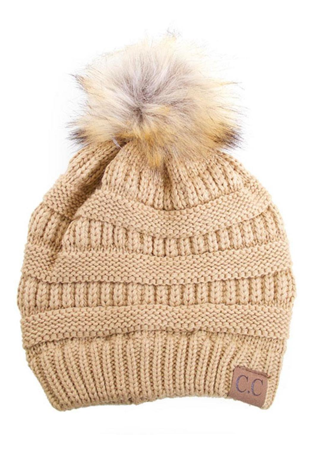 9446194be C.C Beanie Pom-Pom Fur Beanie from Fayetteville by Gatsby's Boutique
