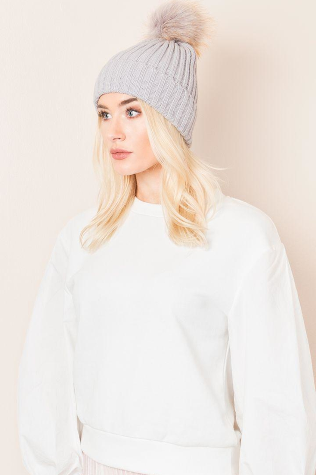 Pia Rossini Pom Pom Hat - Front Cropped Image