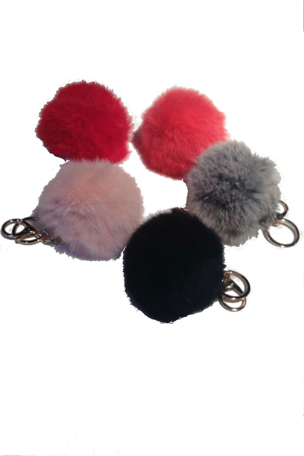 Beth Friedman Genuine Fur Keychain - Front Full Image