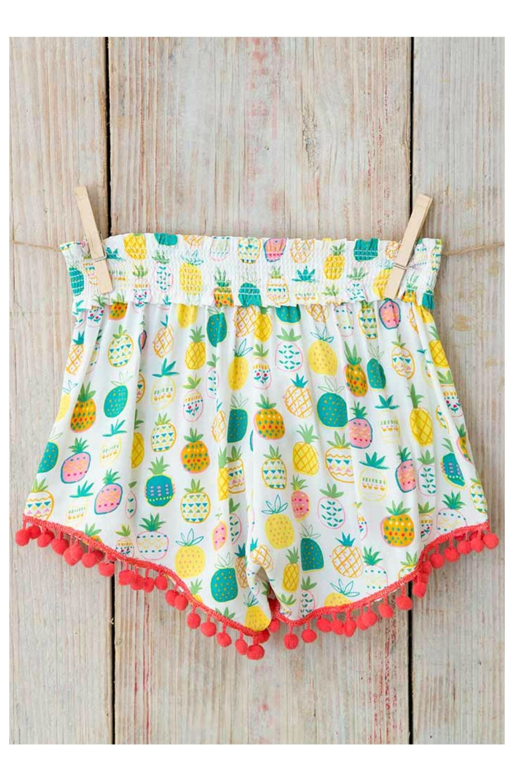 Natural Life Pom-Pom Lounge Shorts - Front Cropped Image