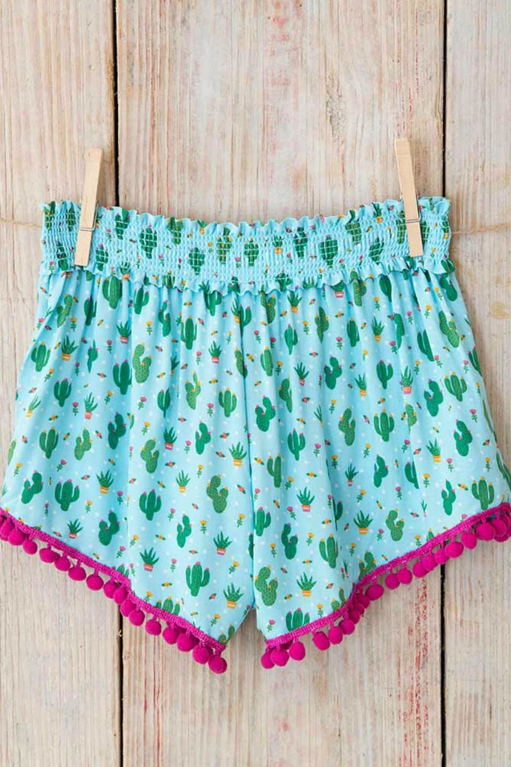 Natural Life Pom-Pom Lounge Shorts - Front Full Image