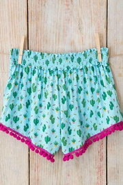 Natural Life Pom-Pom Lounge Shorts - Front full body