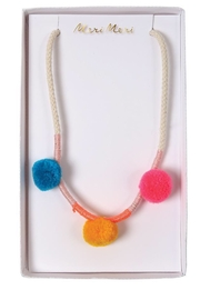 Meri Meri Pom Pom Necklace - Product Mini Image