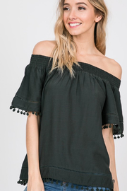ee:some Pom Pom Off-Shoulder Top - Product Mini Image