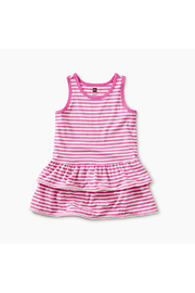 Tea Collection Pom Pom Ruffle Tank Baby Dress - Front cropped