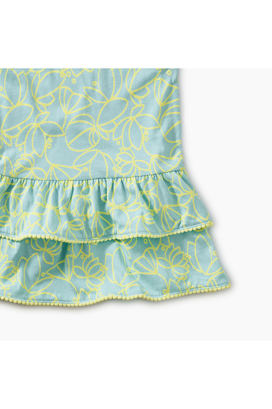 Tea Collection Pom Pom Ruffle Tank Baby Dress - Front Full Image