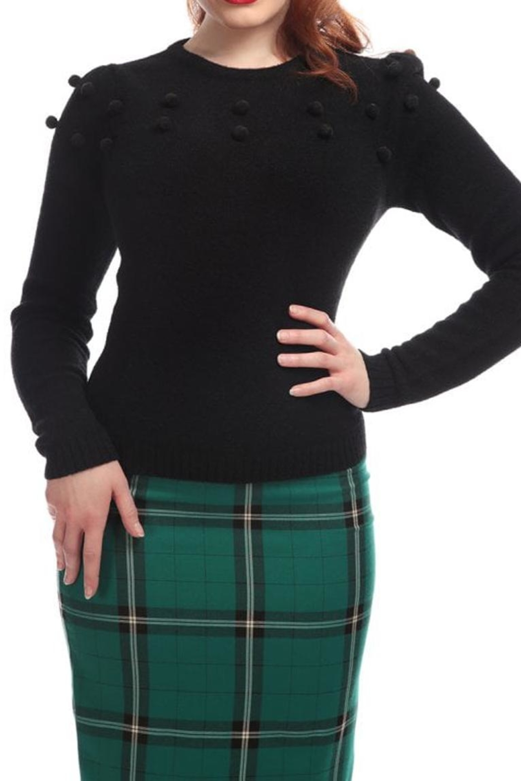 Collectif Pom Pom Sweater - Main Image