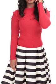Collectif Pom Pom Sweater - Front cropped