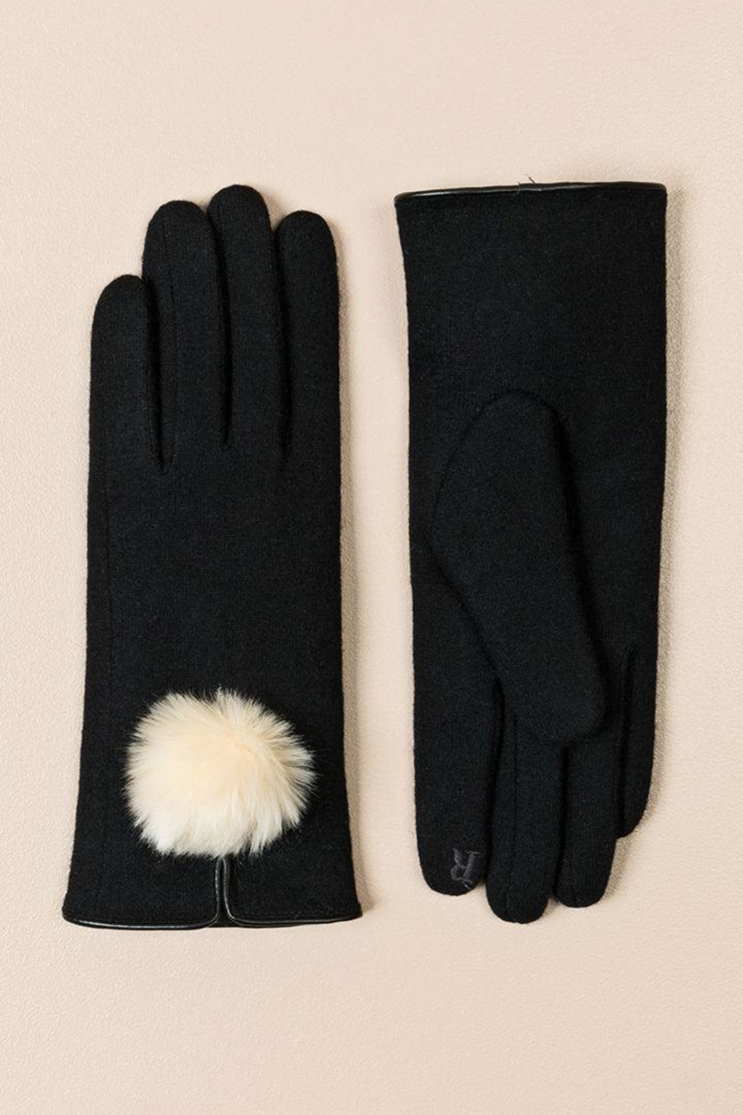 Pia Rossini Pom-Pom Texting Gloves - Front Cropped Image